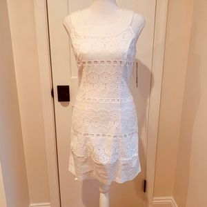 Sleeveless White Crochet Dress NWT Sz7